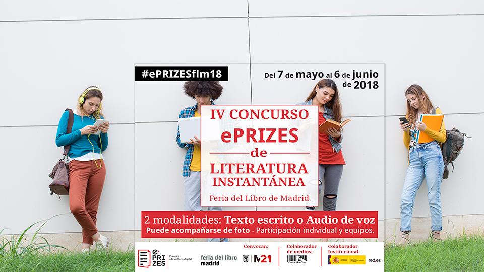 Convocatoria: IV Concurso ePRIZES de Literatura Instantánea – #ePRIZESfml18